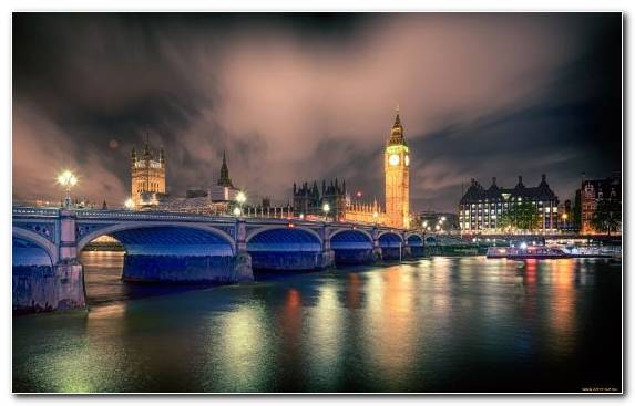 Image Landmark Metropolis Cityscape Palace Of Westminster Night