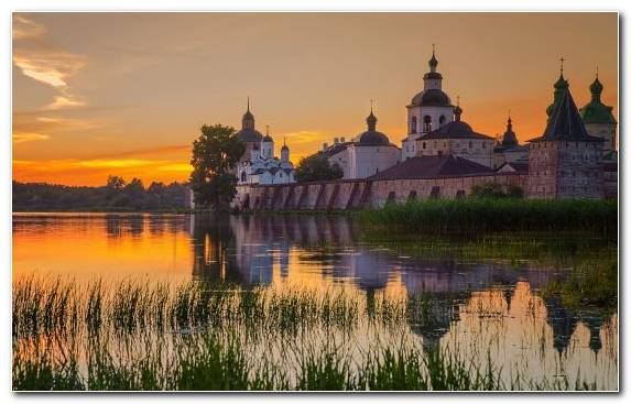 Image Landmark Morning Castle Monastery Dawn