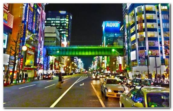Image Landmark Night Street Pedestrian Cityscape