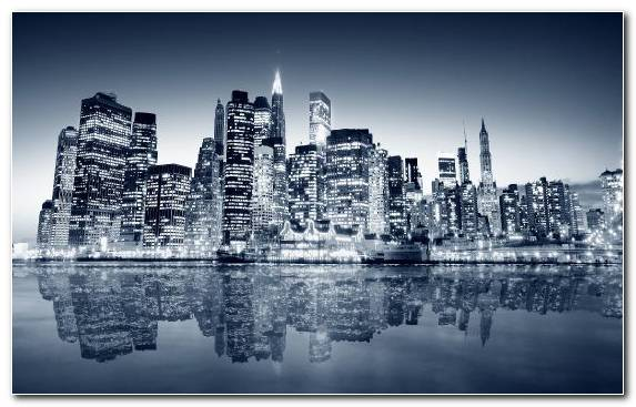 Image Landmark Reflection Cityscape Black And White Building