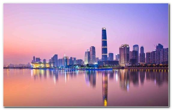 Image Landmark Sky Guangzhou Metropolis Capital City