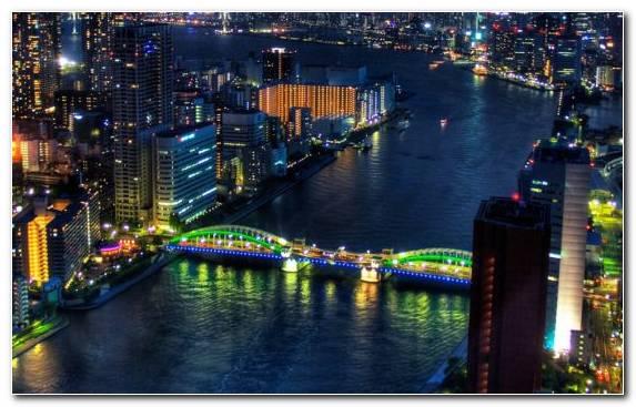 Image Landmark Tokyo Building Night City