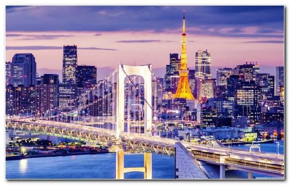 Image Landmark Urban Area Metropolis Cityscape Bridge