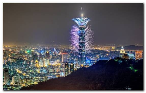 Image Landmark Urban Area Taipei 101 Tower Block Skyline