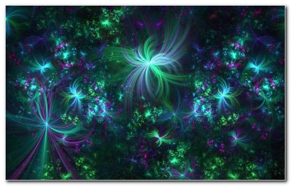 Image Laser Light Green Abstract Art Purple