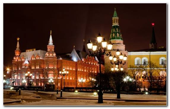 Image Lighting Capital City Red Square Christmas Tourist Attraction
