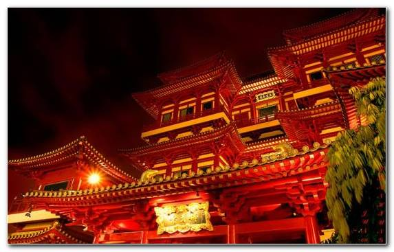 Image Lighting Chinese Architecture Landmark Architecture Shrine