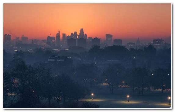 Image London City Dawn Atmosphere Capital City