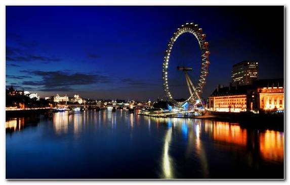 Image London Eye Sky Metropolis Reflection Landmark