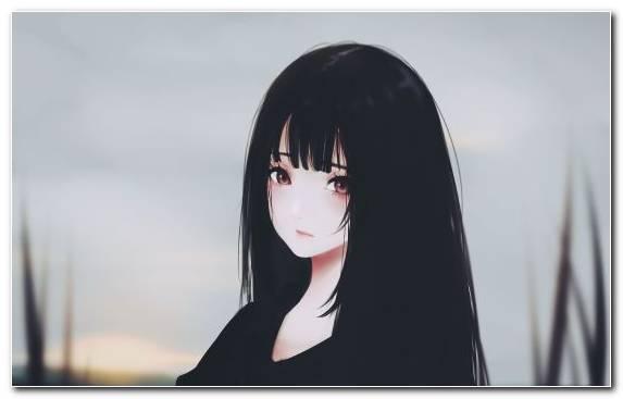 Image Long Hair Anime Portrait Neck Girl
