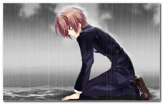 Image Long Hair Cry Sadness Cool Anime