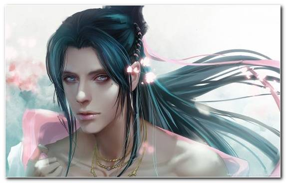 Image Long Hair Fantasy Black Hair Hairstyle Animation