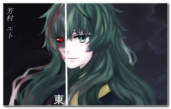Image Long Hair Mouth Hime Cut Ghoul Character