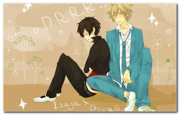 Image Male Friendship Cool Mangaka Sitting