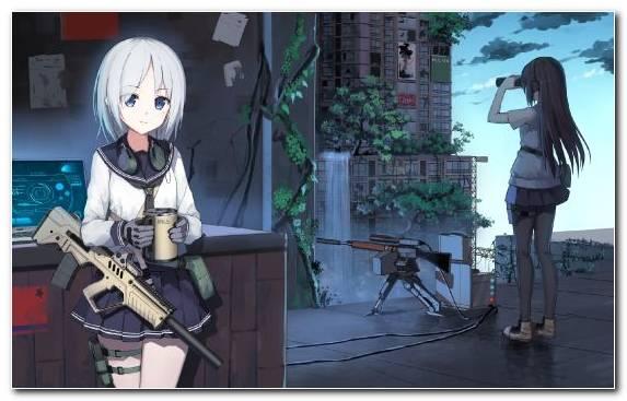 Image Manga Girl Weapon Anime Cannon