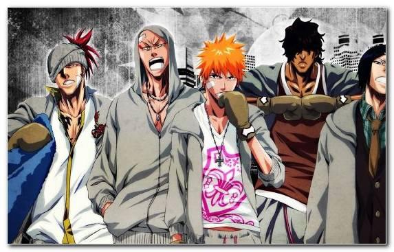 Image Manga Kisuke Urahara Orihime Inoue Cool Gangster
