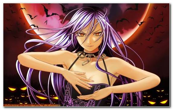Image Manga Rosario Plus Vampire Woman Warrior Purple Anime Music Video