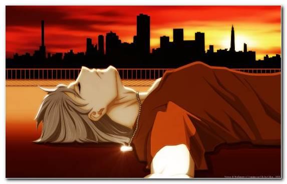 Image manga silhouette sunset boys girl