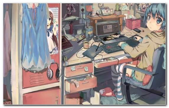 Image Mangaka Furniture Room Fiction Manga