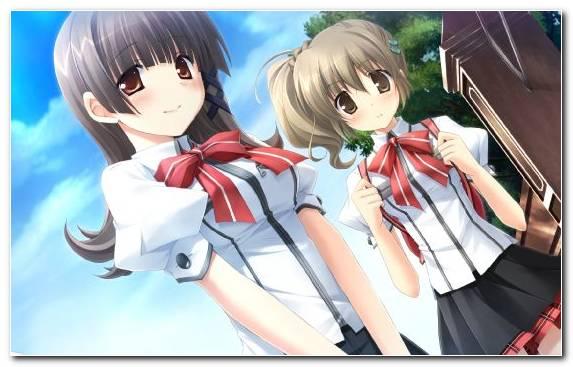 Image Mangaka Long Hair Brown Hair Black Hair Girl