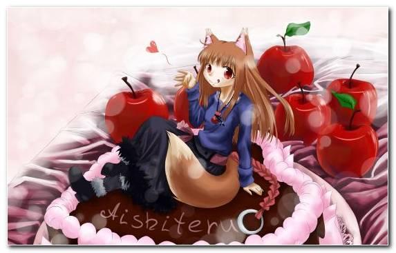 Image Mangaka Red Birthday Cake Cartoon Girl