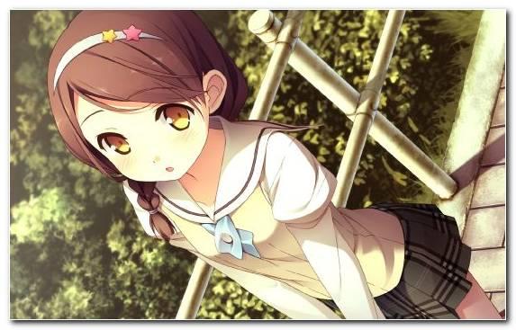 Image mangaka your diary cartoon brown hair girl