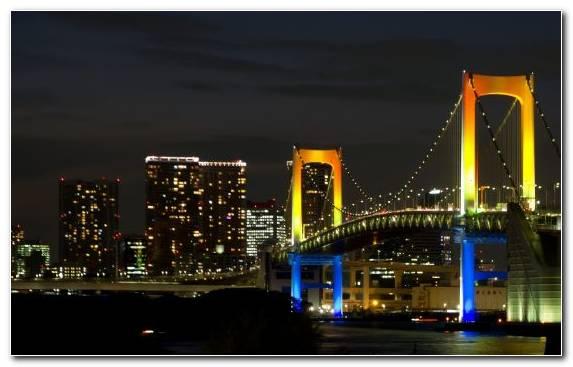 Image Manhattan Bridge Urban Area Reflection Skyline Horizon