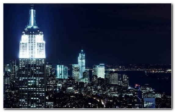 Image Manhattan Capital City City Night Metropolis