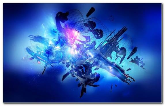 Image Marine Biology Electric Blue Graphics Light Fractal Art