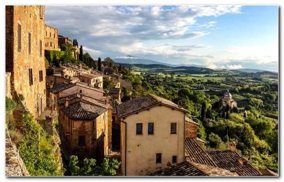 Image medieval architecture mountain tourism town terrain