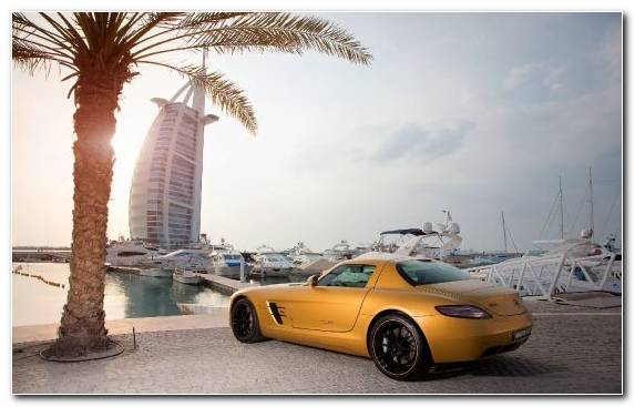 Image Mercedes Benz Sls Amg Sportscar Television Palm Islands Factory