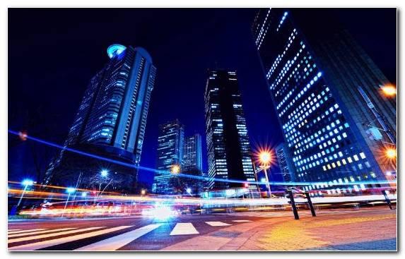 Image Metropolis Blue Capital City Night Tokyo