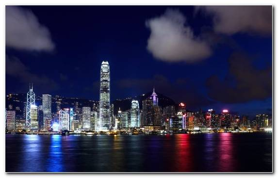 Image Metropolis Capital City Skyline Landmark Victoria Harbour