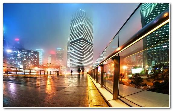 Image Metropolis City Downtown Urban Area Evening