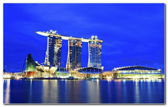 Image Metropolis Cityscape Singapore Capital City Sky