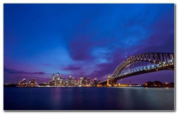 Image Metropolis Cityscape Skyline Sky Sydney Harbour Bridge