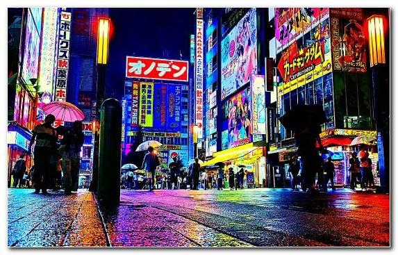 Image Metropolis Cityscape Street Night Urban Area