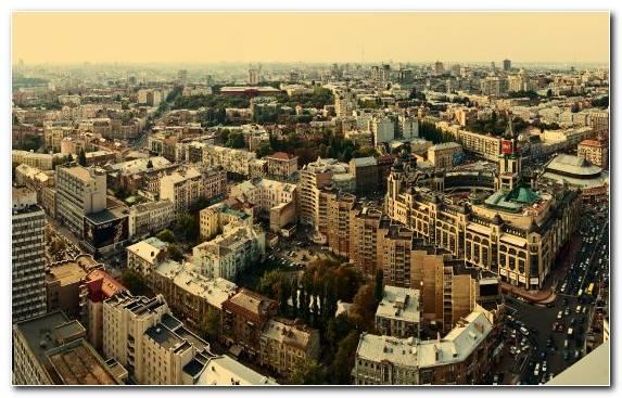 Image Metropolis Frankfurt Skyline Horizon Kiev