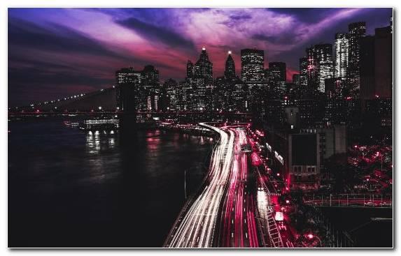 Image Metropolis Horizon Bridge Landmark Cityscape