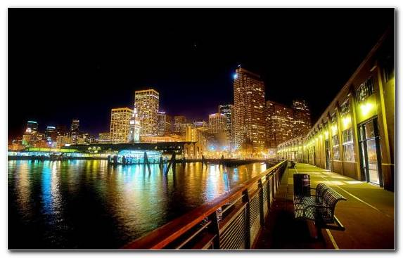 Image Metropolis Landmark City Waterway Sunset