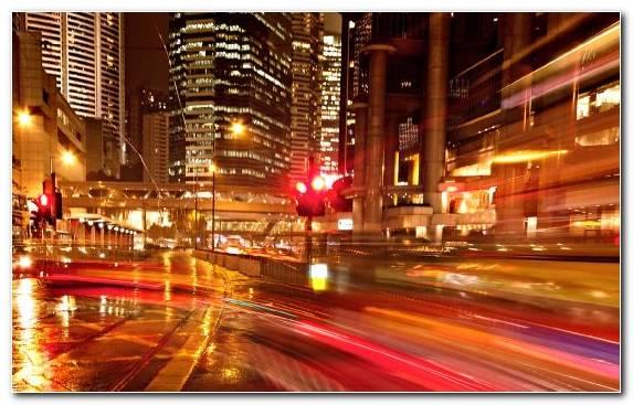 Image Metropolis Reflection Downtown Night Urban Area