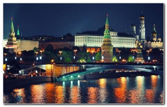 Image Metropolis Reflection Urban Area Moscow Moscow Kremlin