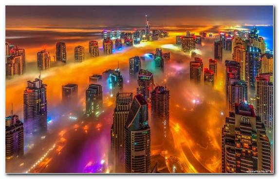 Image Metropolis Skyline Night City Cityscape