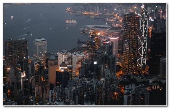 Image Metropolis Skyscraper Victoria Harbour City Cityscape