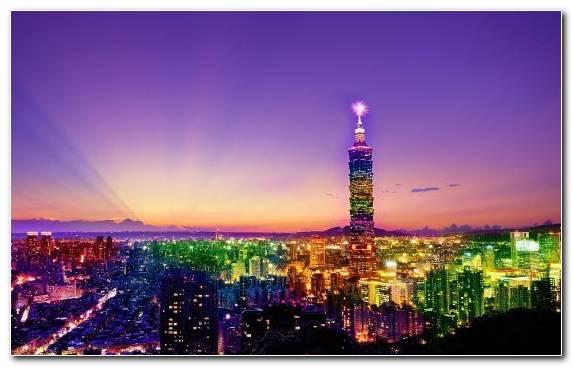 Image Metropolis Taipei 101 Skyscraper Urban Area Skyline