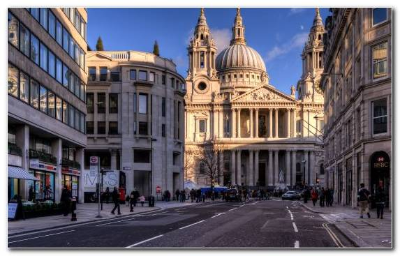 Image Metropolis Tourist Attraction Millennium Bridge London St Pauls Cathedral Cathedral