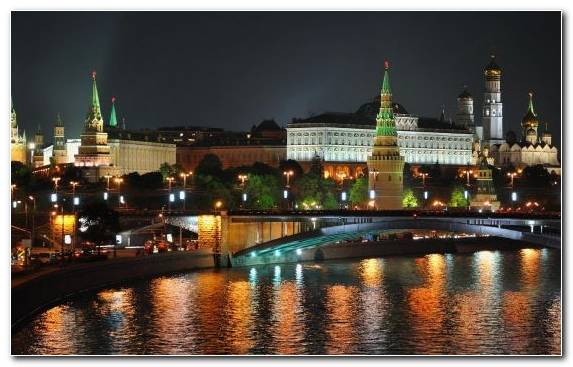 Image Metropolis Tourist Attraction Moscow Cityscape Night