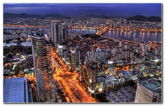Image metropolis tourist attraction seoul capital city horizon
