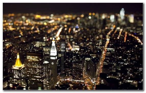 Image Metropolis Urban Area Manhattan Skyline Night