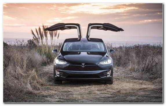 Image Mid Size Car Tesla Model X Automotive Exterior Car Mitsubishi